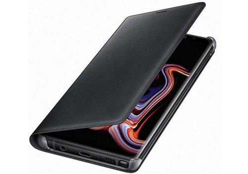 Samsung lederen wallet voor Samsung N960 Galaxy Note 9 - Zwart