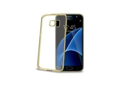 Celly -  Cover Gelskin Laser Galaxy S7 - Goud