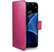 Celly Celly - Samsung Galaxy S7 PU Hoesje - Roze
