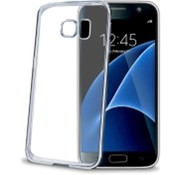 Celly Celly - Laser Cover Hoesje voor Galaxy S7 -  Zilver transparant