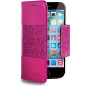 Celly Celly- Glitty booktype hoes- iPhone 6 / 6S - Roze