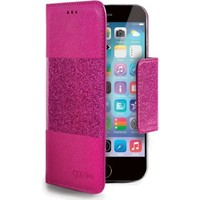 Celly- Glitty booktype hoes- iPhone 6 / 6S - Roze