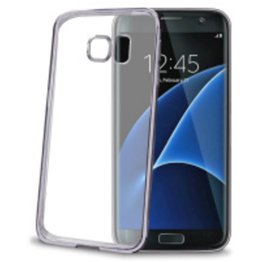 Celly Laser Cover voor galaxy S7 Edge - blauw