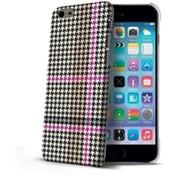 Celly Celly - Pied de Poule design hardcase iPhone 6 / 6s - Magenta