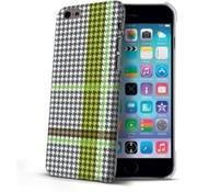 Celly Celly - Pied de Poule design hardcase iPhone 6 / 6s - Groen