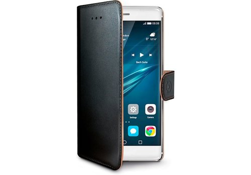Celly - Huawei P9  Hoesje Wally Bookcase - Zwart