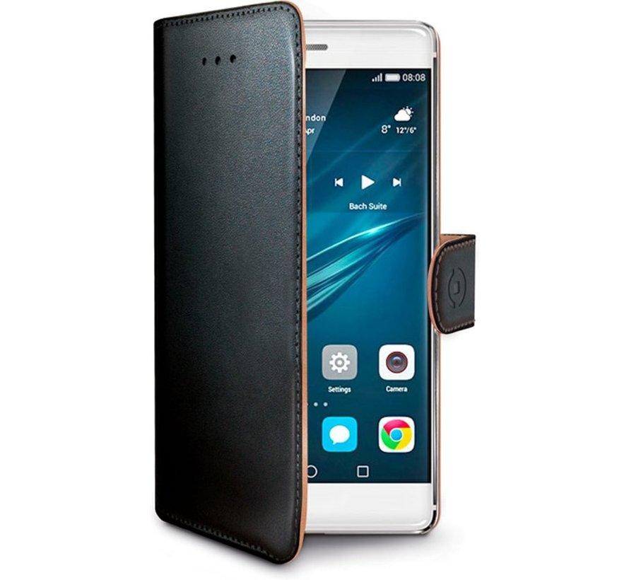 Celly - Huawei P9  Hoesje Wally Bookcase - Zwart