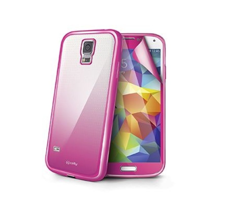 Celly - Sunglass Cover Hoesje voor Samsung Galaxy S5 - Roze