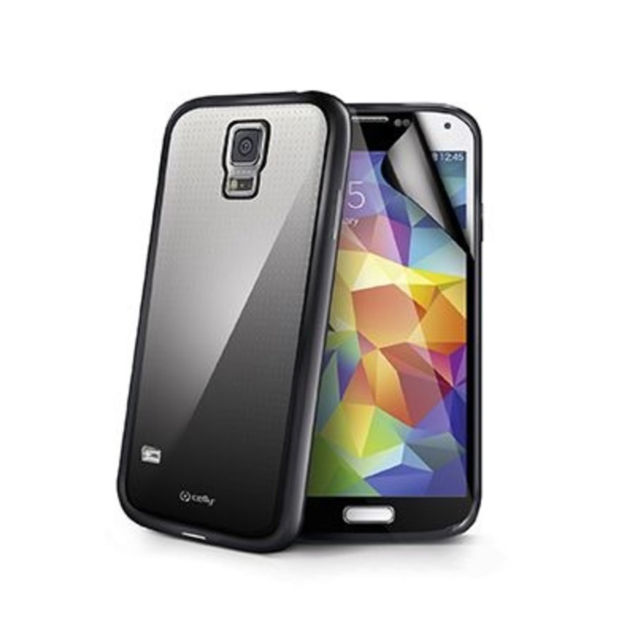 Celly - Sunglass Cover Hoesje voor Samsung Galaxy S5 - Zwart
