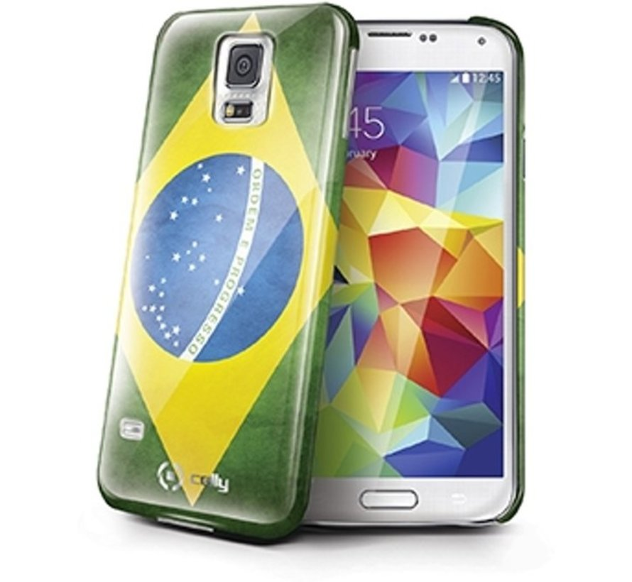 Celly - Samsung Galaxy S5 Brazilië Vlag Design - Groen Geel