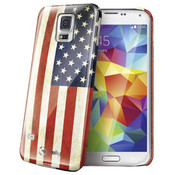 Celly Celly - Samsung Galaxy S5 Amerikaanse Vlag Design - Blauw Rood