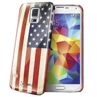 Celly - Samsung Galaxy S5 Amerikaanse Vlag Design - Blauw Rood