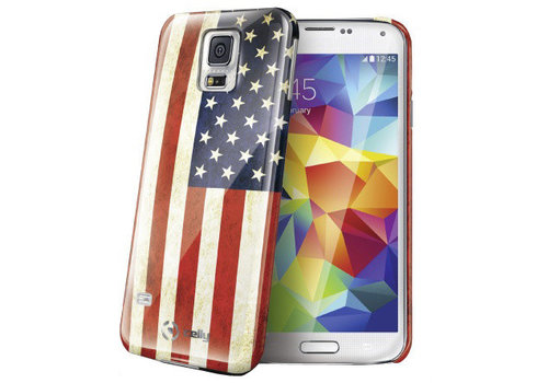 Celly - Samsung Galaxy S5 Amerikaanse Vlag Design - Blauw Rood