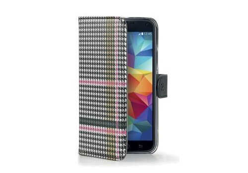 Celly - Wallet Case Samsung Galaxy S5 - Zwart Wit