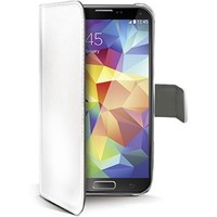 Celly - Eco-Leather Bookcase Wallet Samsung Galaxy S5 -Wit