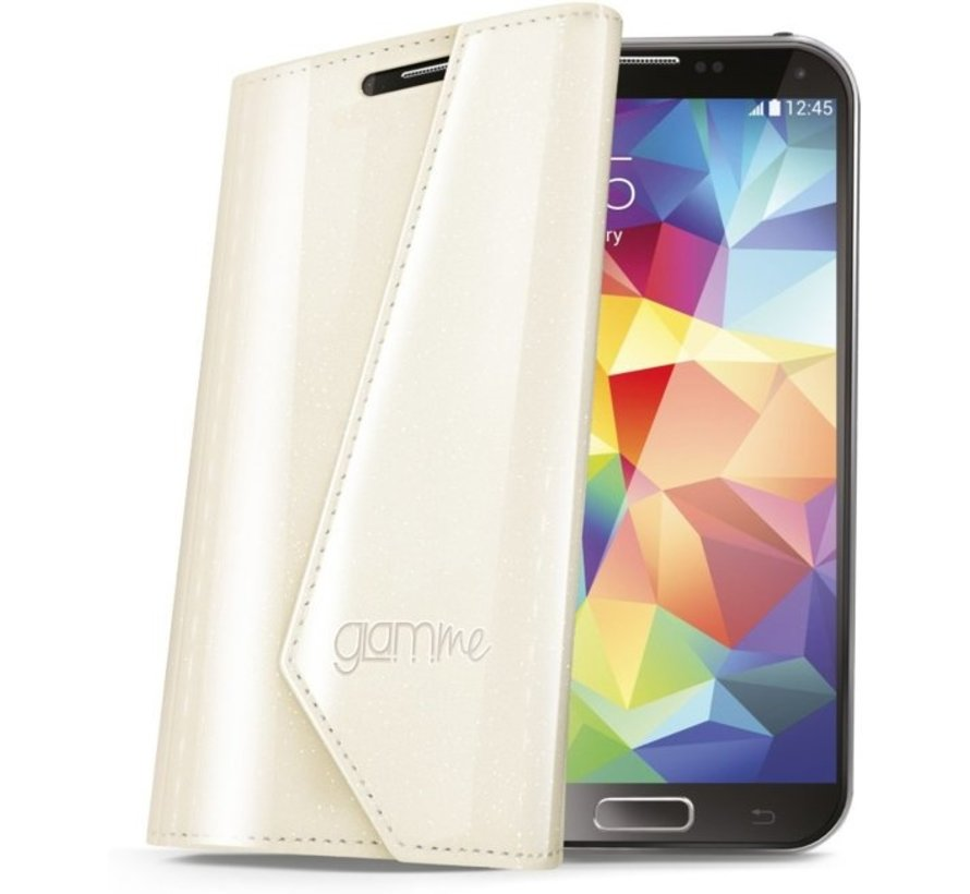 Celly - Lady Wally Booktype Hoes - Samsung Galaxy S5 - Wit