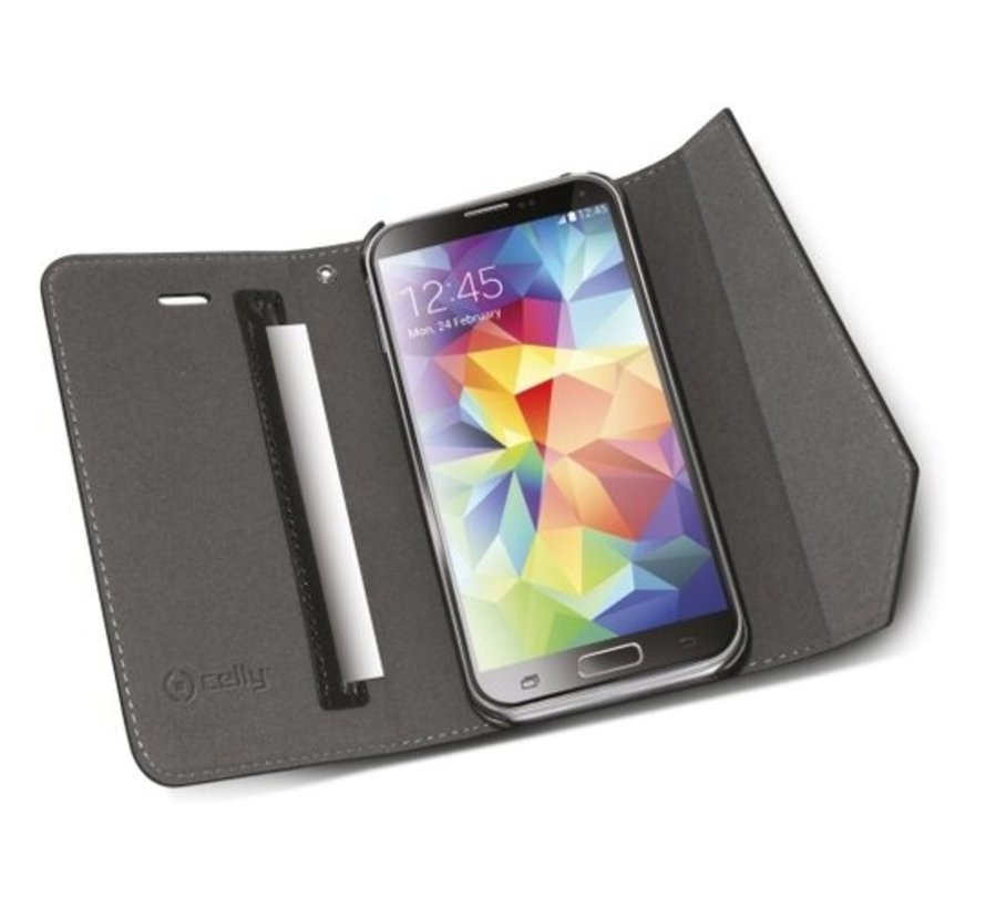 Celly - Lady Wally booktype hoes - Samsung Galaxy S5 - Zwart