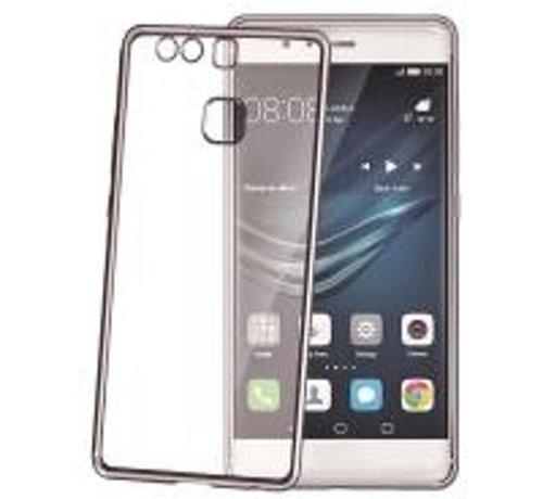 Celly Celly - laser Cover hoesje voor Huawei P9 - Donker zilver