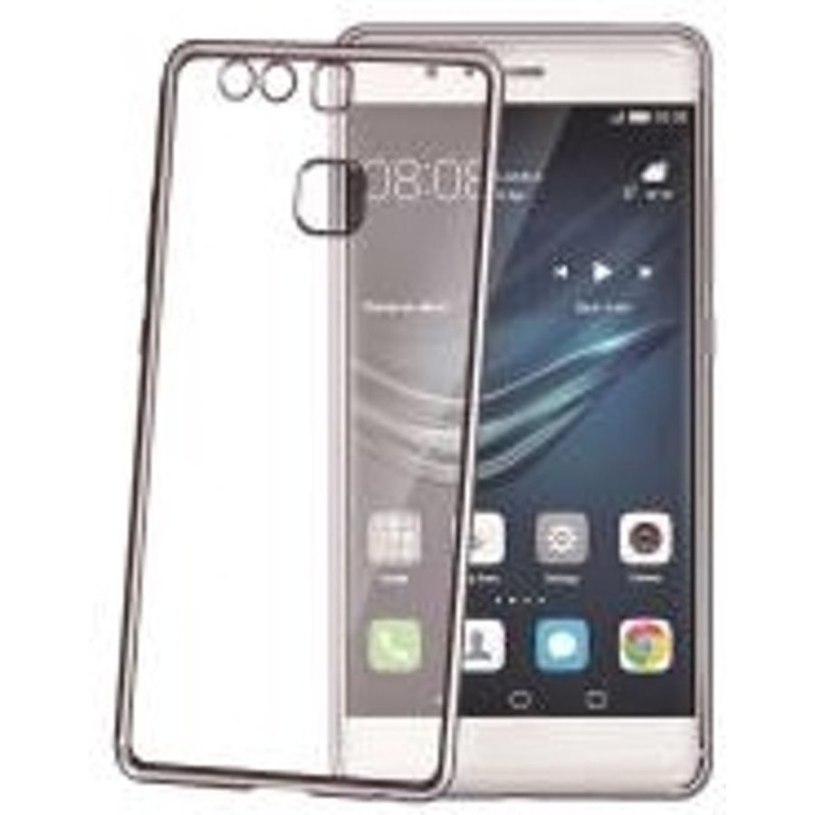 Celly - laser Cover hoesje voor Huawei P9 - Donker zilver