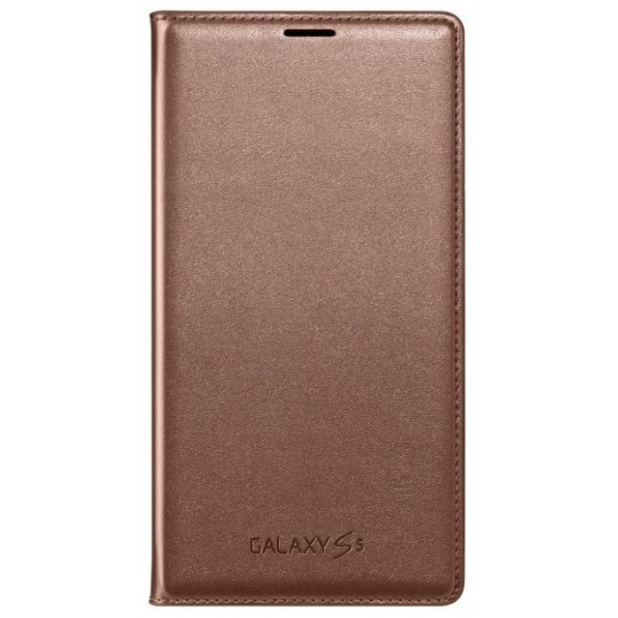 Samsung Galaxy S5 Flip Wallet- Rose Goud