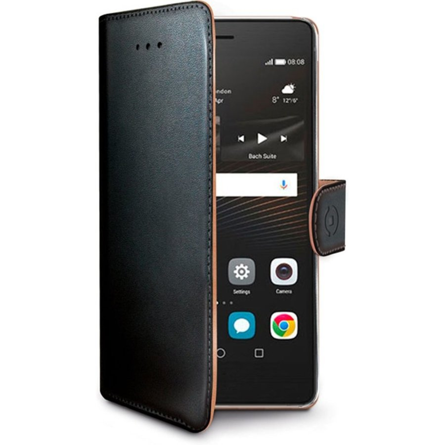 Celly - Wally Boekhoes voor Huawei P9 Lite - Zwart