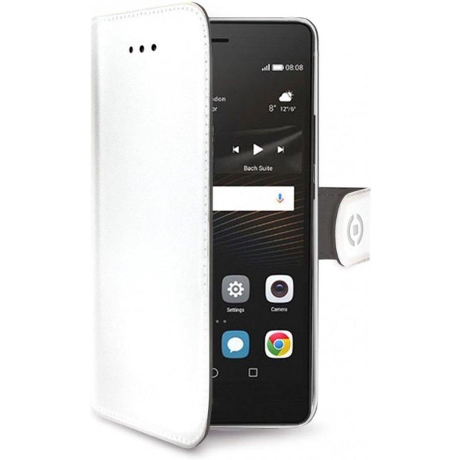 Celly - Wally Boekhoes voor Huawei P9 Lite - Wit
