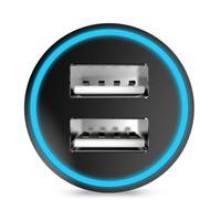 Hoco - Autolader met 2 USB Poorten - Zwart
