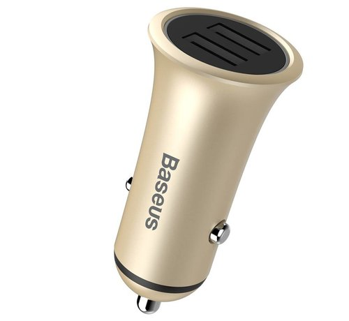 GSMWise Baseus - Autolader met 2 USB Poorten - Goud