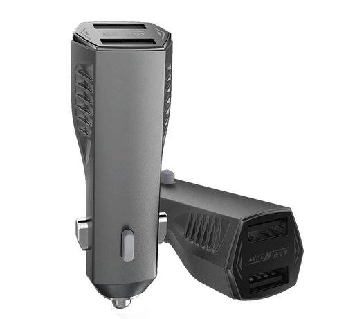 GSMWise Remax - Autolader 2 USB Poorten - Zwart