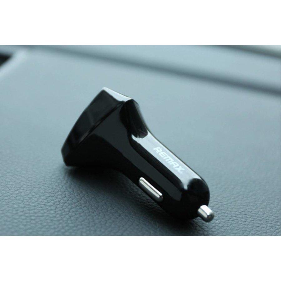 Remax - Autolader 2 USB Poorten met LED Display - Zwart