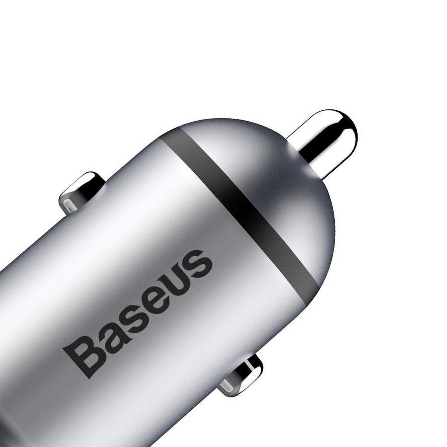 BASEUS - Autolader Dubbel USB - Grijs