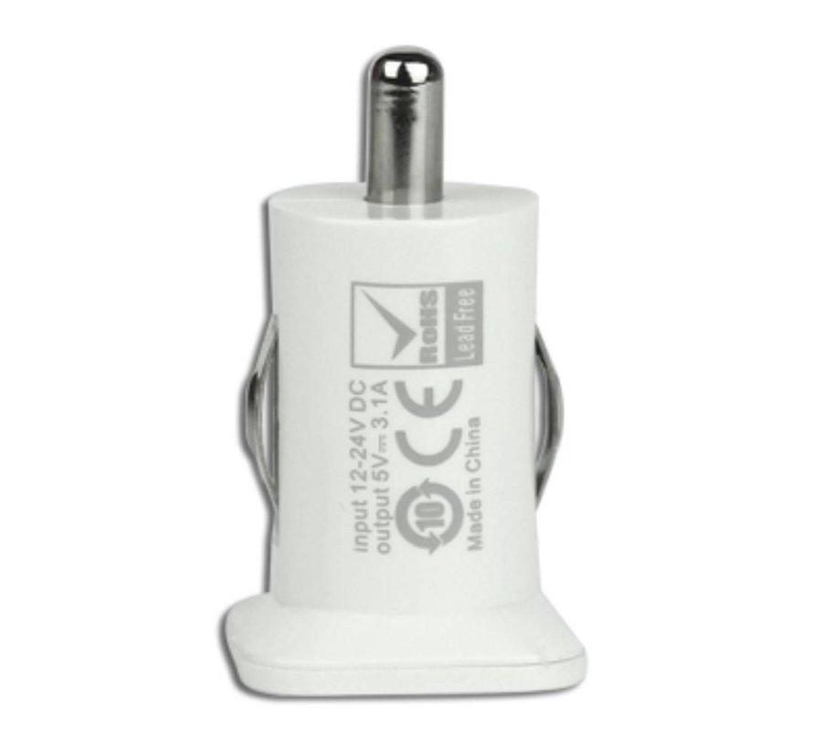 Usams - Autolader met 2 USB Ingangen - Wit