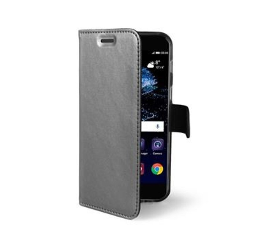 Celly - Wallet Case Huawei P10 - Grijs
