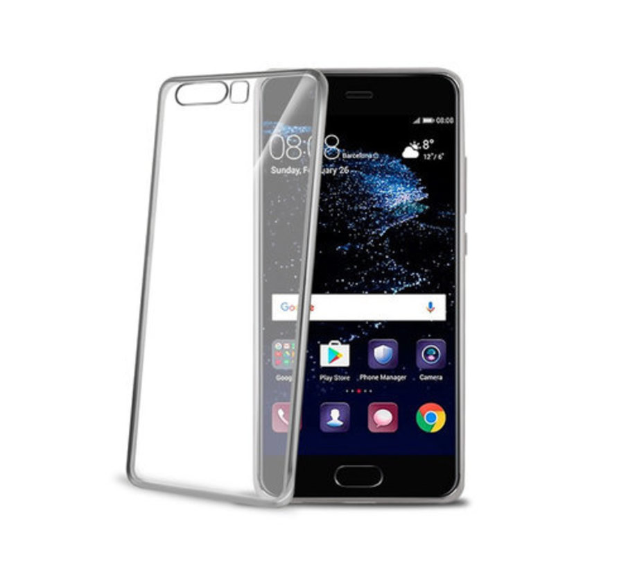 Celly- Laser Cover Huawei P10 Plus- Silver