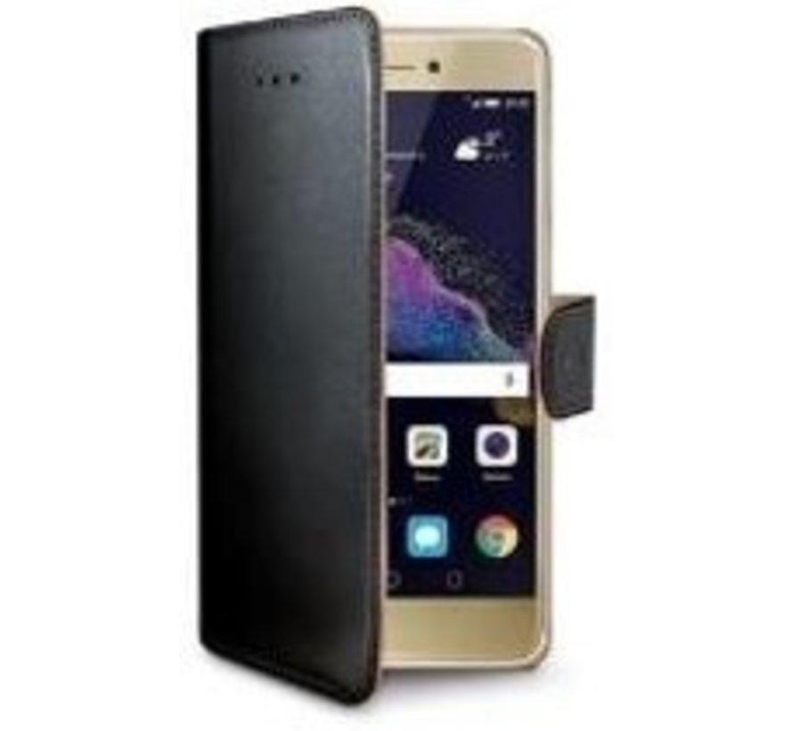 Celly - Wally Book Case Huawei P8 Lite (2017) - Zwart