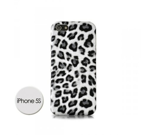 DS Styles DS Styles - Luipaard Case Voor Iphone 5/5s - Wit