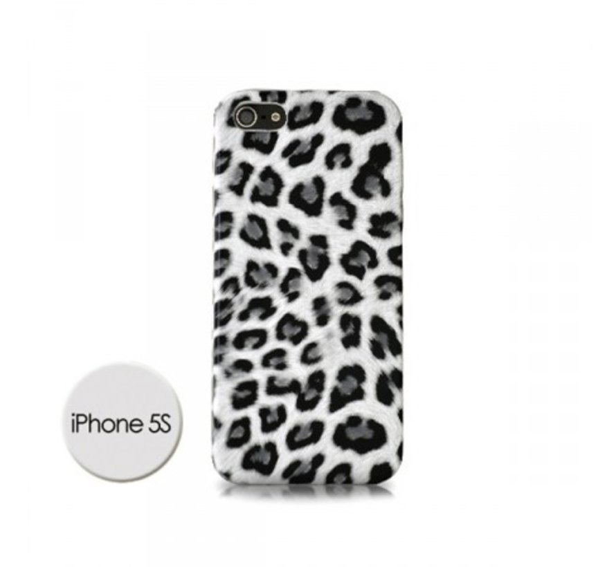 DS Styles - Luipaard Case Voor Iphone 5/5s - Wit