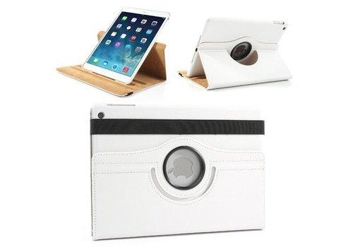 Apple iPad Air 2 (iPad 6) - 360 graden draaibare Hoes - Kleur Wit