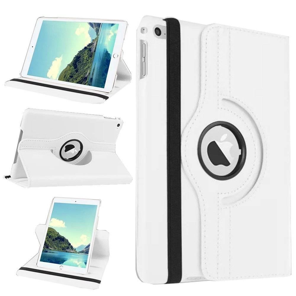 Afbeelding van Apple iPad 2, 3 en 4 Swivel Case, 360 graden draaibare Hoes, Cover met Multi-stand - Kleur Wit