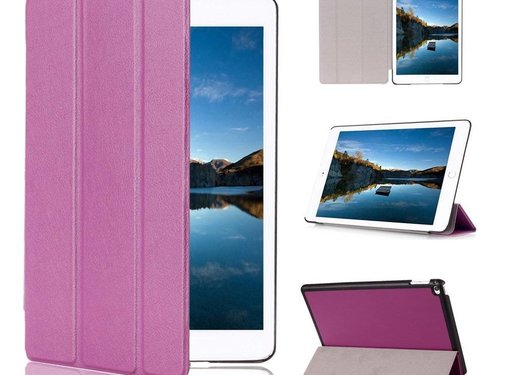 GSMWise Apple iPad Mini 4 - PU lederen Smart Case - Paars