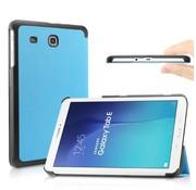 GSMWise Samsung Galaxy Tab E 9.6 - PU lederen Smart Case - Aqua Blauw