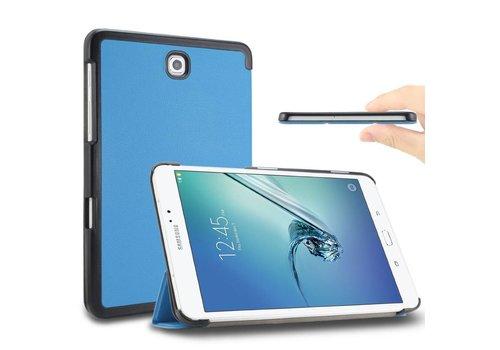 Samsung Galaxy Tab S2 8.0 - PU lederen Smart Case - Aqua Blauw