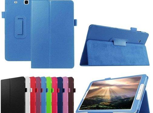 GSMWise Samsung Galaxy Tab E 9.6 - Book Case Hoes - Aqua Blauw