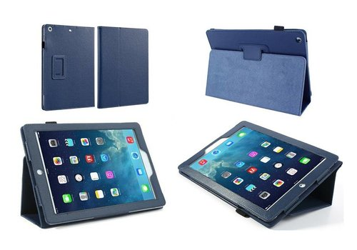 Apple iPad Mini 1 / 2 / 3 - Book Case Hoes - Blauw