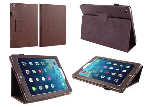 Apple iPad Mini 1 / 2 / 3 - Book Case Hoes - Bruin