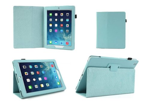 Apple iPad Air 2 (iPad 6) - Book Case Hoes - Aqua Blauw