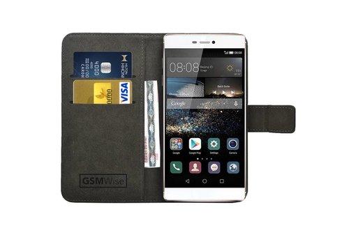 Zwart PU lederen Portemonnee hoesje Huawei P8