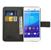 GSMWise Zwart PU lederen Portemonnee hoesje Sony Xperia M4