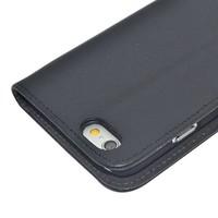 Zwart PU lederen Portemonnee hoesje voor de iPhone 6/6S Wallet Case