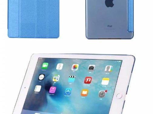 GSMWise Apple iPad Air 2 (iPad 6) - Zachte Zijden Design Tablet Cover - Blauw